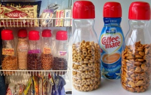 What To Do With Old Coffee Creamer Bottles 2