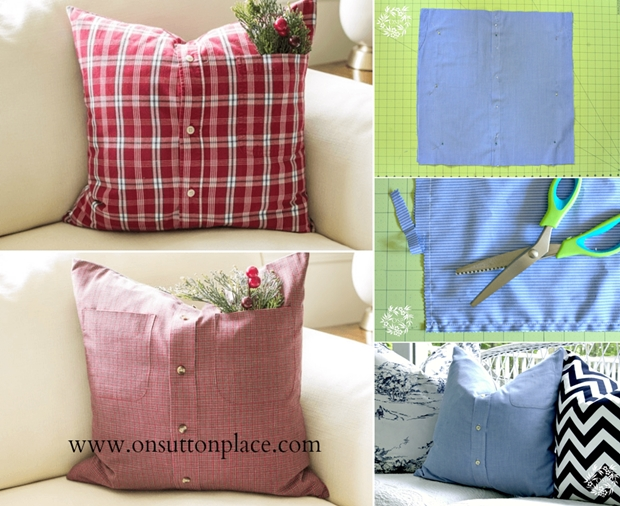 WhatToDoWithOld What To Do With Old ButtonUp Shirts Unique Button Up Shirt Pillow Covers