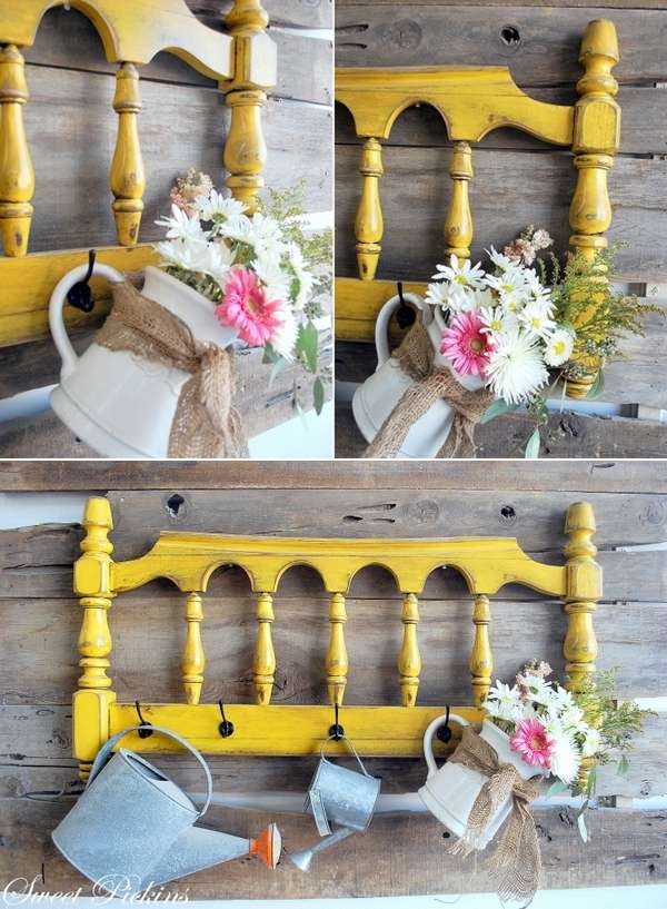 Whattodowithold what to do with old headboards for Gardening tools for 6 year old