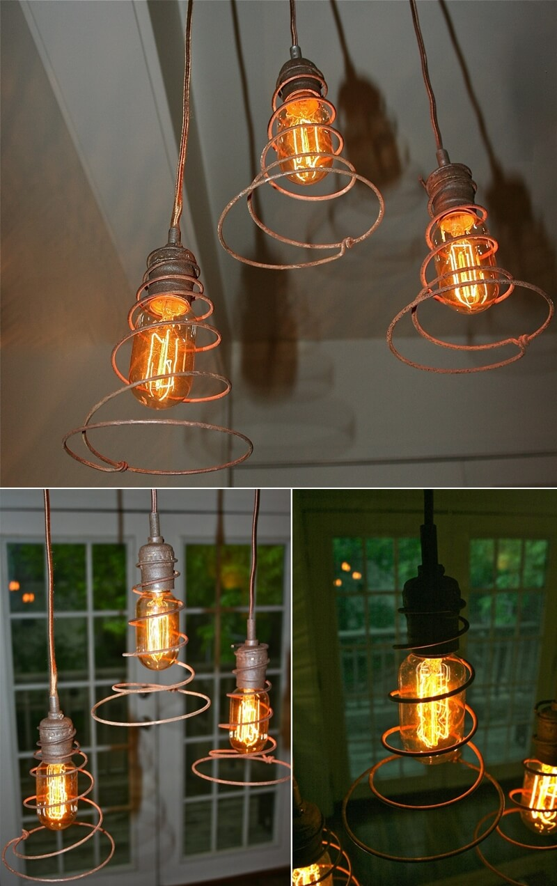 Whattodowithold what to do with old bed springs for Into lighting