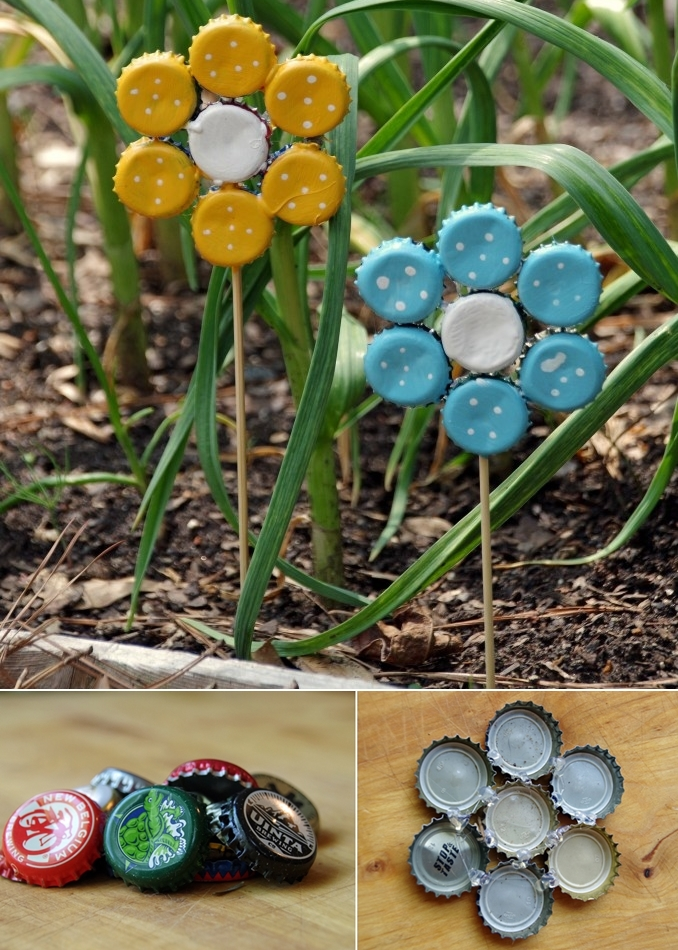 Whattodowithold what to do with old bottle caps for How to make bottle cap flowers