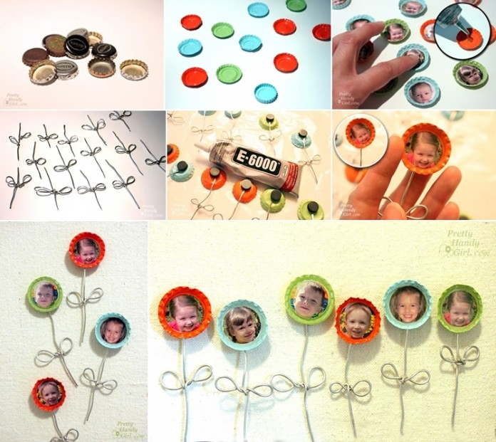 what to do with old bottle caps