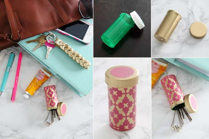 What to do with old pill bottles for Prescription bottle holder