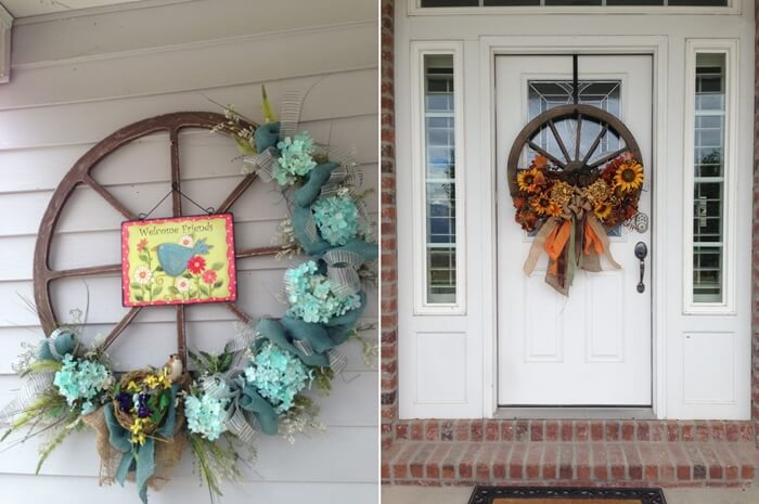 Wagon Wheel Wreaths