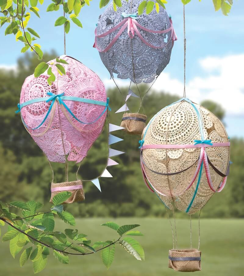 What to do with old doilies for What to do with balloons